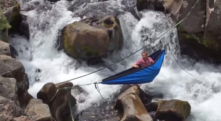 バスタブハンモック 滝