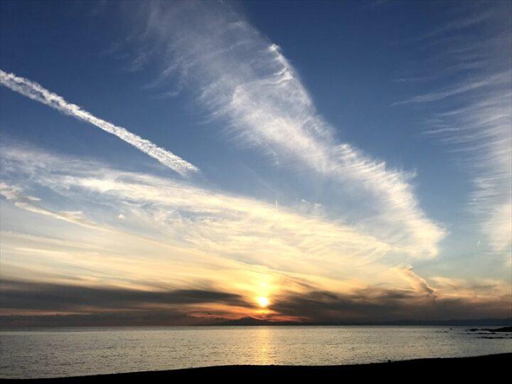 和田長浜海岸 夕日