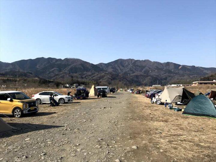 角田大橋 キャンプ 河川敷の様子2