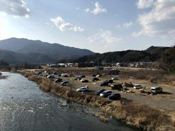 角田大橋 キャンプ 角田橋からの眺め