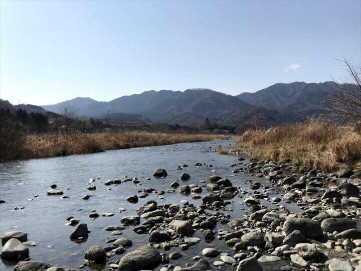 角田大橋 キャンプ 川