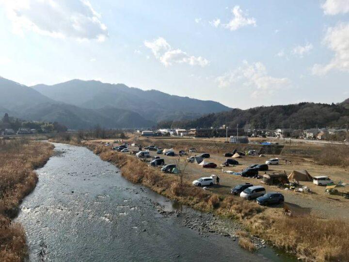 角田大橋 キャンプ 橋からの眺め