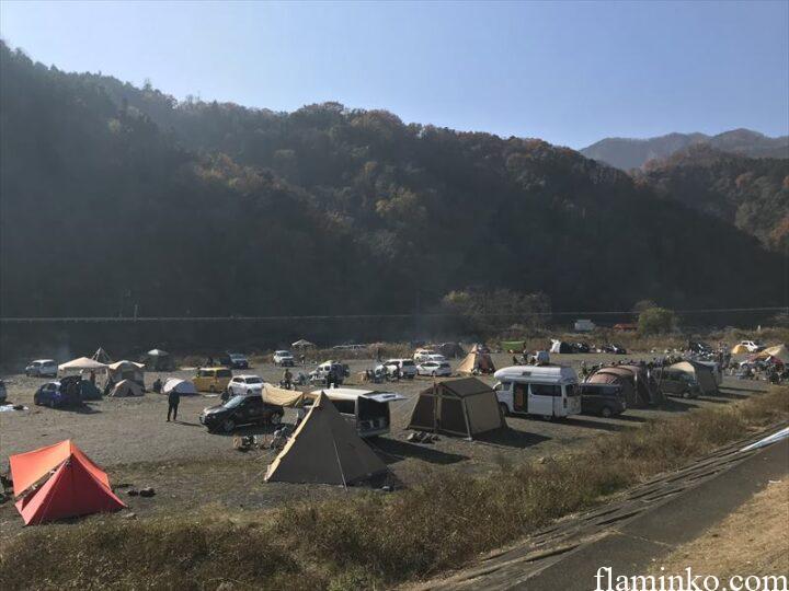 中津川河川敷 田代運動公園 キャンプ