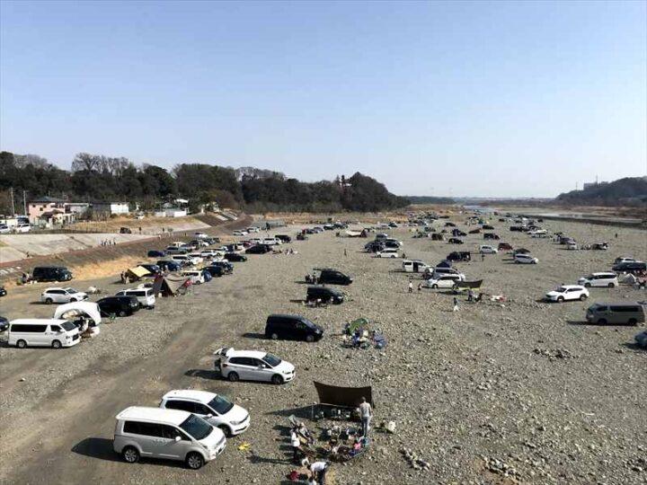 高田橋多目的広場 キャンプ 高田橋からの眺め2