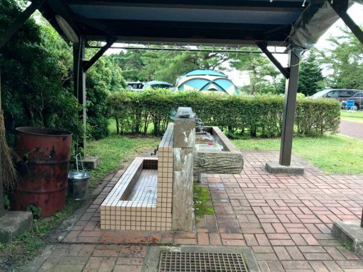 だるま山高原キャンプ場 炊事場 屋外