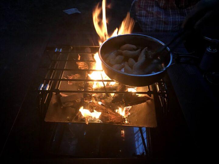 だるま山高原キャンプ場 焚き火料理