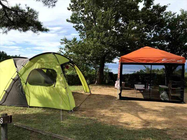だるま山高原キャンプ場 設営完了