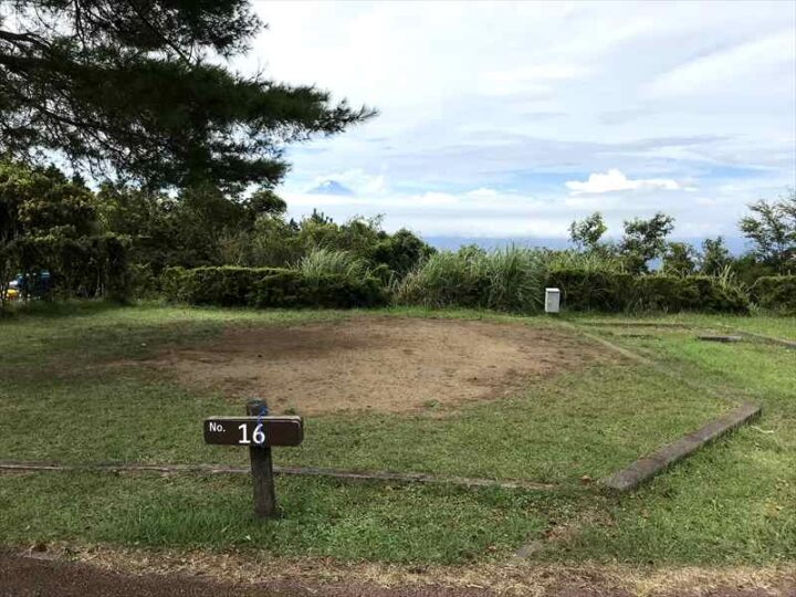 だるま山高原キャンプ場 案内図 フリーサイト 16番