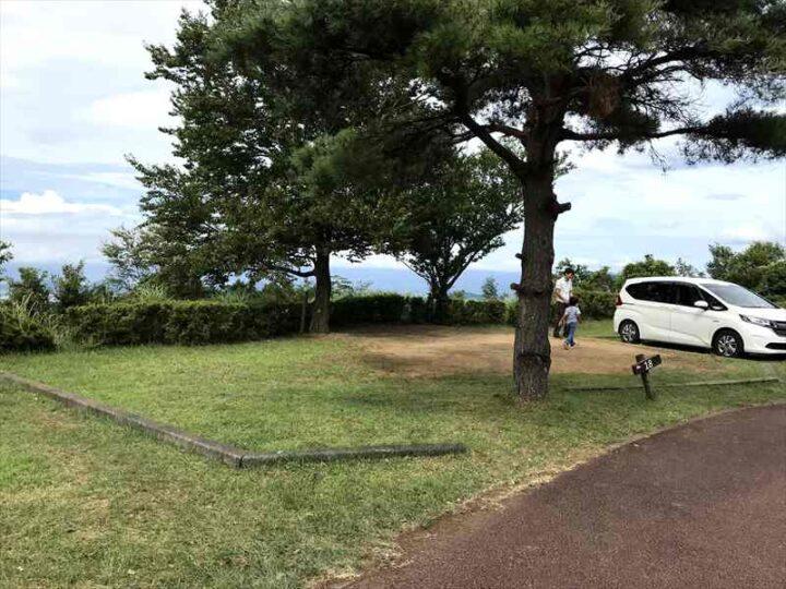 だるま山高原キャンプ場 案内図 フリーサイト 眺望のいいサイト
