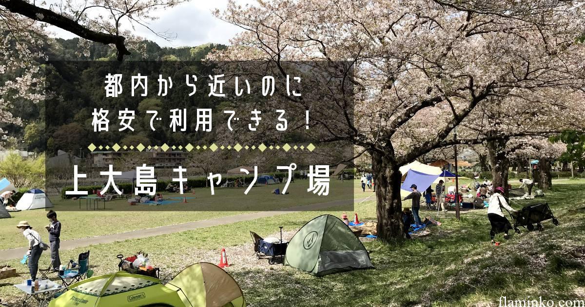 【都内から近いのに驚きの安さ!】上大島キャンプ場でデイキャンプ!