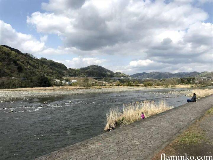 上大島キャンプ場 相模川