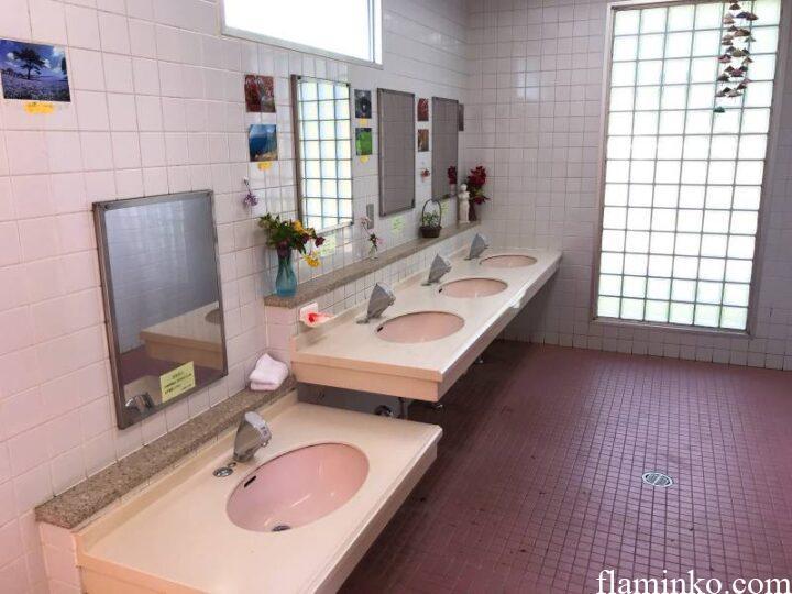 上大島キャンプ場 トイレ 洗面台