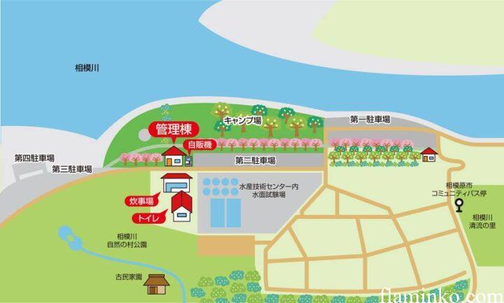 上大島キャンプ場 地図