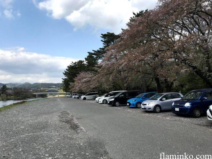 上大島キャンプ場 駐車場