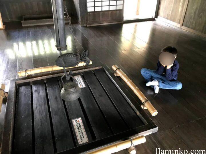 上大島キャンプ場 囲炉裏