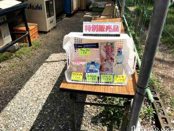 上大島キャンプ場 売店