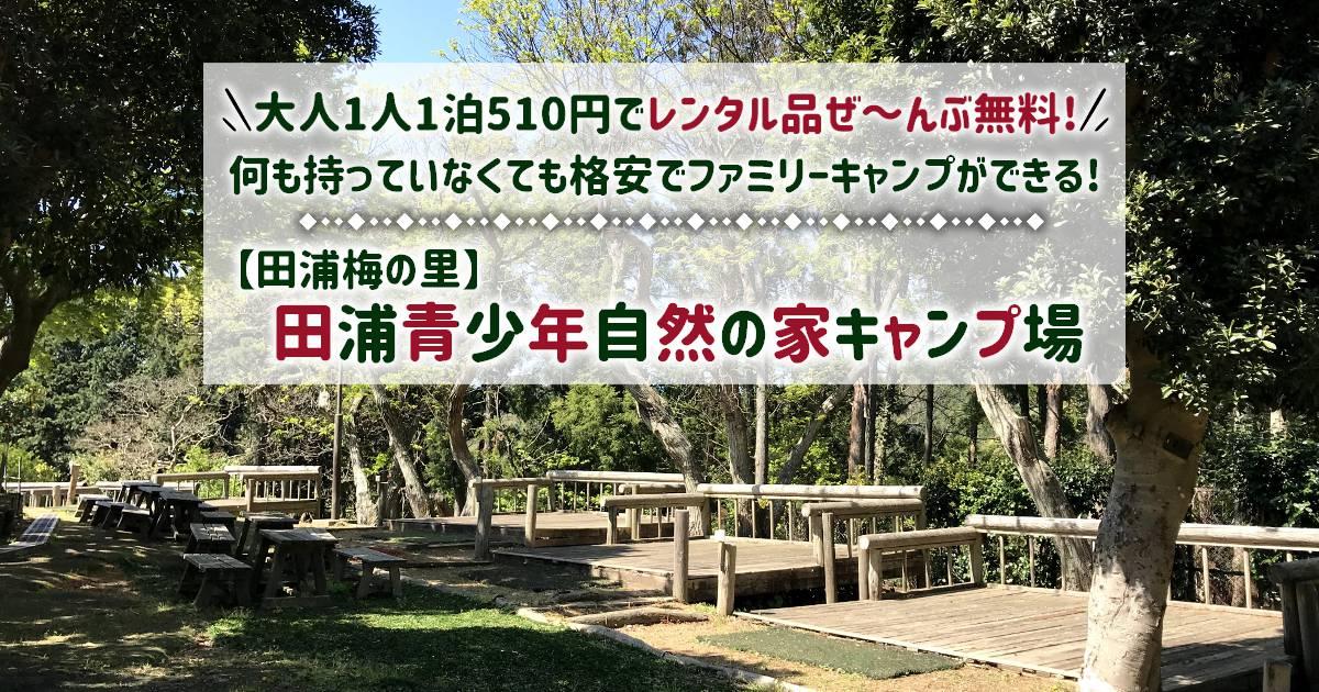 【都内から1時間】田浦梅の里でキャンプ!激安&レンタル無料です