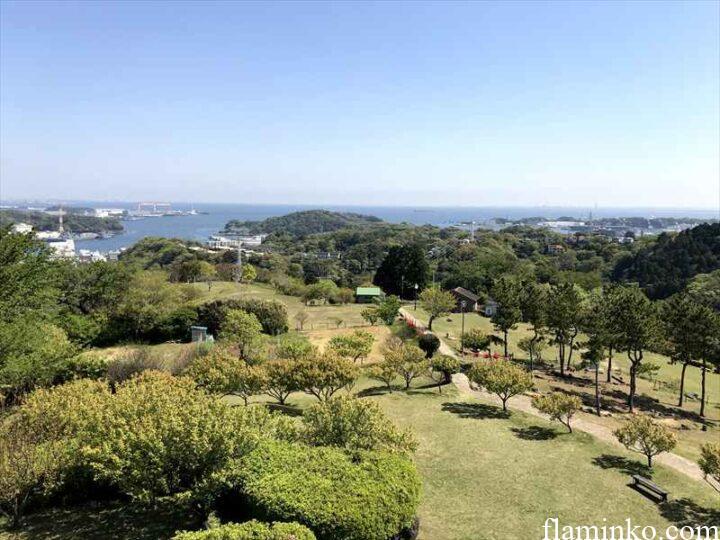田代青少年自然の家 展望台からの眺め