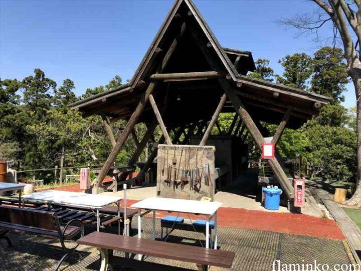 田代青少年自然の家 キャンプ場 炊事場外観