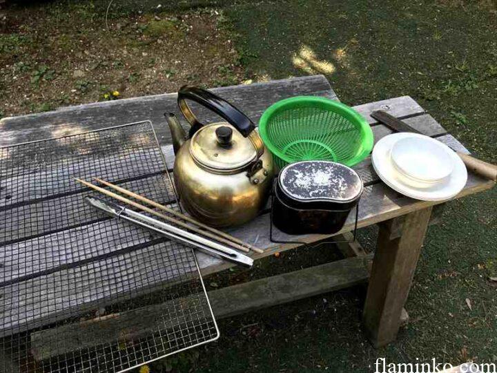 田代青少年自然の家 キャンプ レンタル品