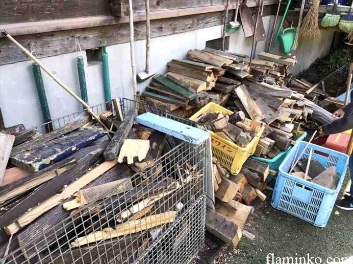 田代青少年自然の家 キャンプ 廃材薪