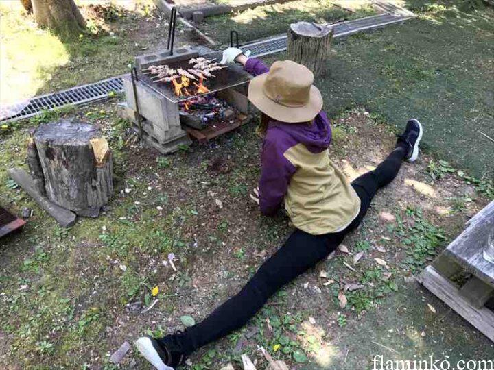 田代青少年自然の家 キャンプ 開脚キャンパー