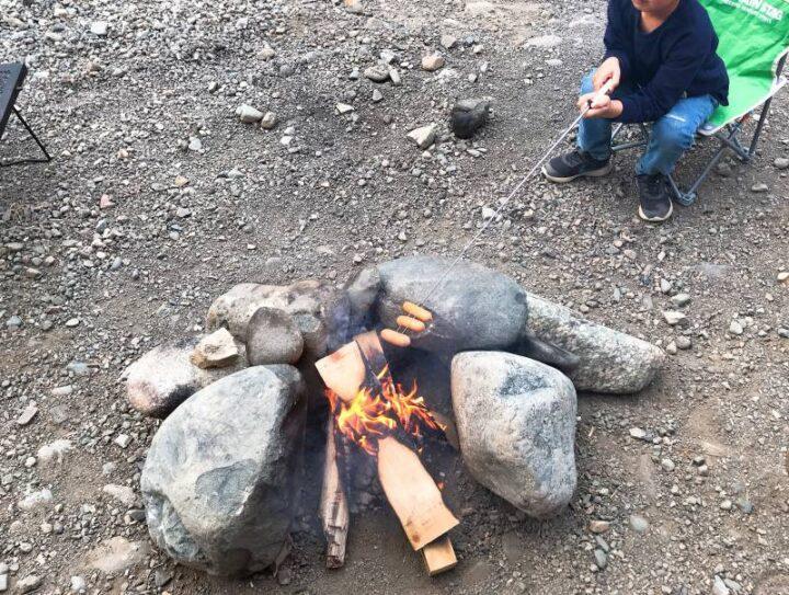 青野原野呂ロッジキャンプ場 直火