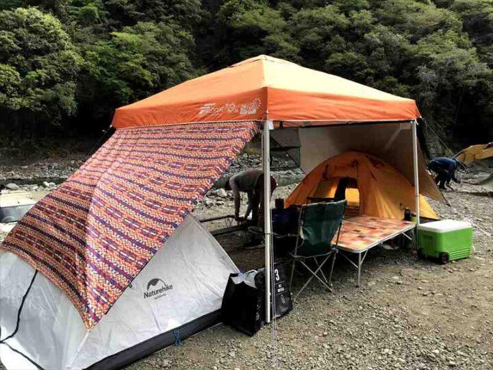 青野原野呂ロッジキャンプ場 設営完了