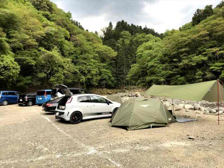 青野原野呂ロッジキャンプ場 テントサイト3