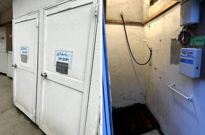 青野原野呂ロッジキャンプ場 シャワー室
