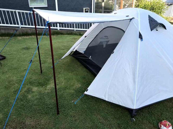 ネイチャーハイク Pシリーズ テント 設営完了 横