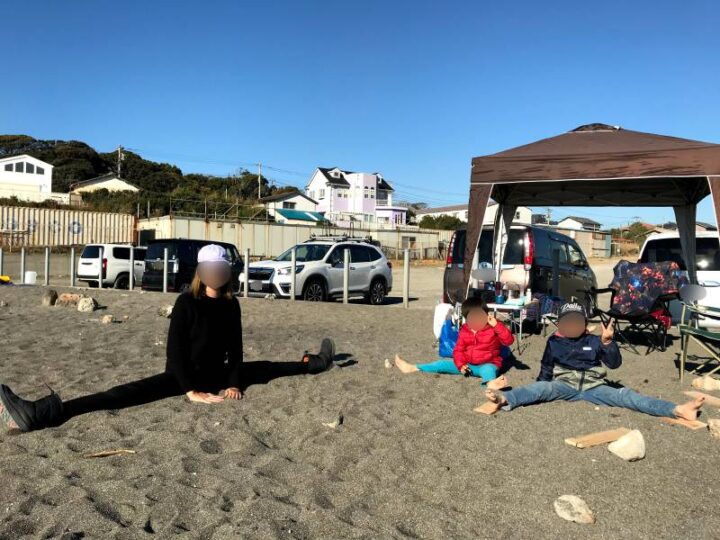和田長浜海岸 開脚キャンプ2