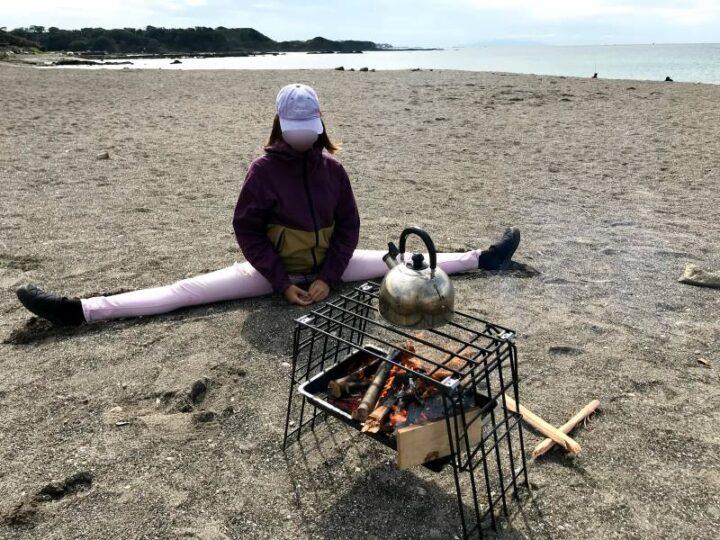 和田長浜海岸 開脚キャンパー