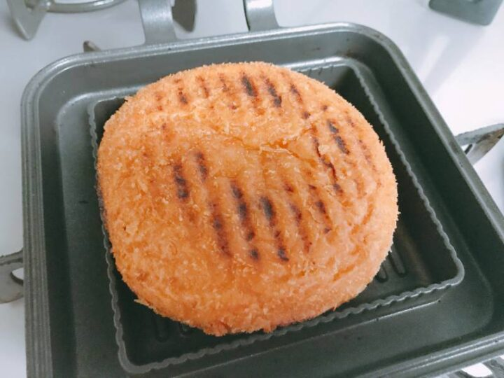 キャンプ バーベキュー以外の料理 ホットサンドメーカー カレーパン
