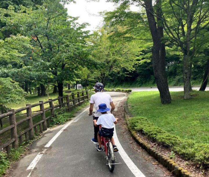 山伏オートキャンプ場 山中湖 2人乗り自転車