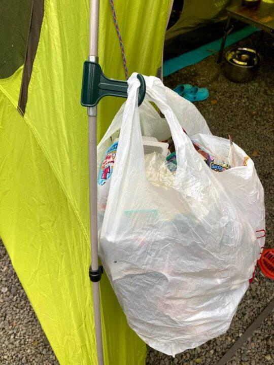100均 キャンプ フッククリップ ゴミ袋