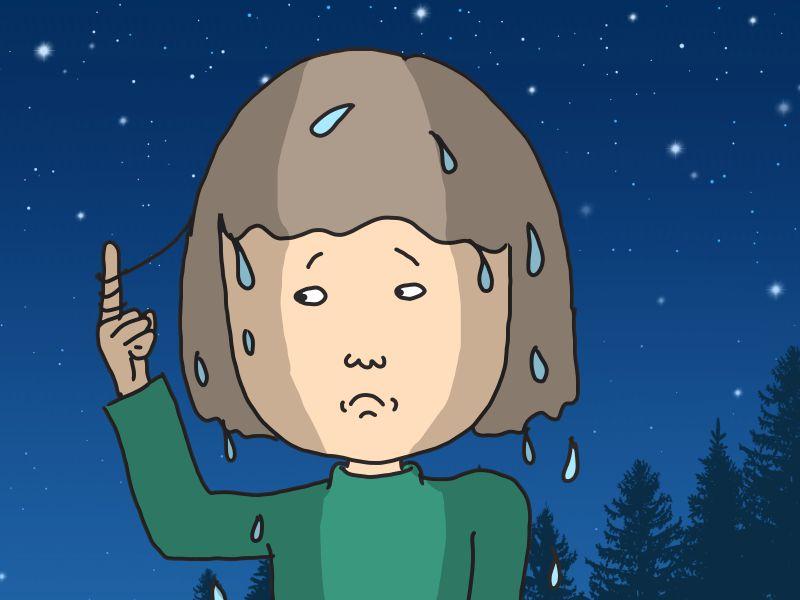 キャンプで髪を乾かすにはどうするのか?